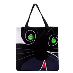 Big Cat Grocery Tote Bag by Valentinaart