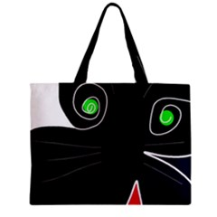Big Cat Mini Tote Bag by Valentinaart