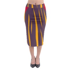 Fire Midi Pencil Skirt by Valentinaart