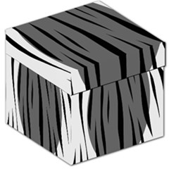 Gray, Black And White Design Storage Stool 12   by Valentinaart