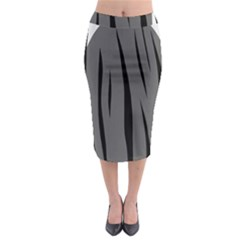 Gray, Black And White Design Midi Pencil Skirt by Valentinaart
