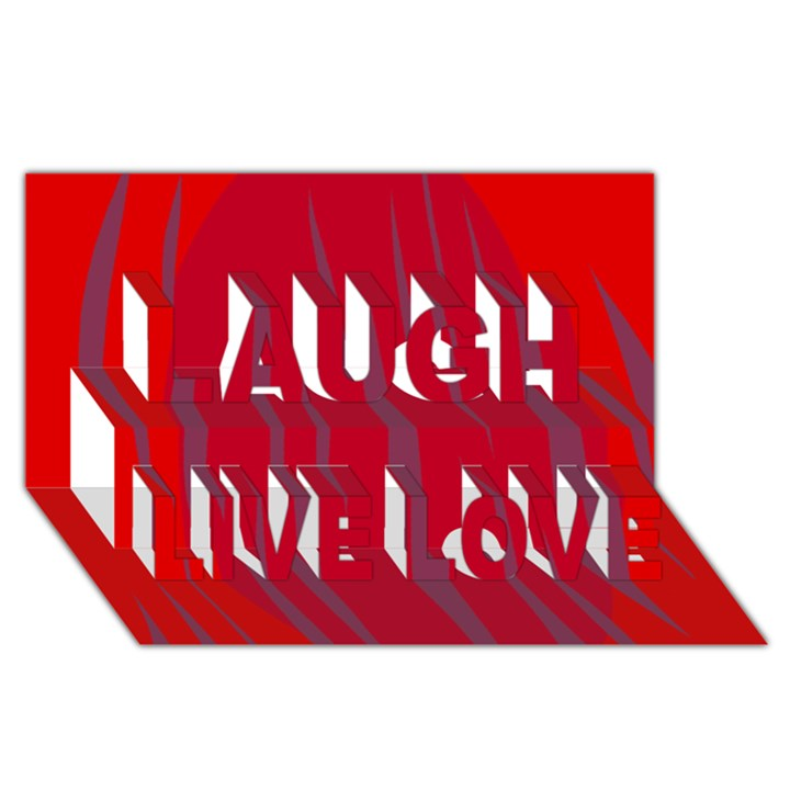 Hot lava Laugh Live Love 3D Greeting Card (8x4)