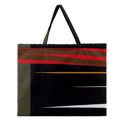 Colorful Lines  Zipper Large Tote Bag by Valentinaart