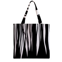Black Forest Zipper Grocery Tote Bag by Valentinaart