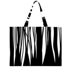 Black Forest Zipper Large Tote Bag by Valentinaart