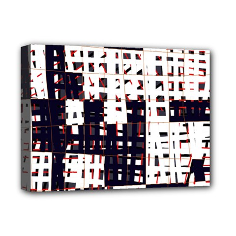 Abstract City Landscape Deluxe Canvas 16  X 12   by Valentinaart