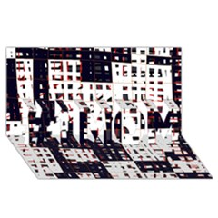 Abstract City Landscape #1 Mom 3d Greeting Cards (8x4) by Valentinaart