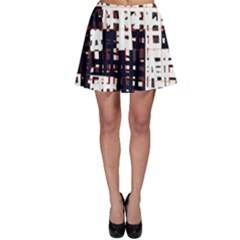 Abstract City Landscape Skater Skirt by Valentinaart