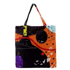 Orange Dream Grocery Tote Bag by Valentinaart