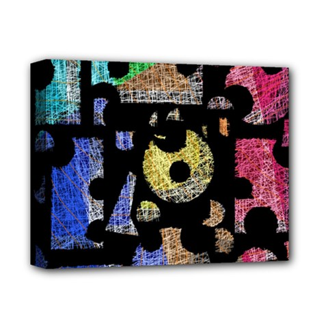 Colorful Puzzle Deluxe Canvas 14  X 11  by Valentinaart