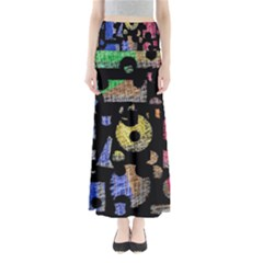 Colorful Puzzle Maxi Skirts by Valentinaart
