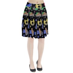 Colorful Puzzle Pleated Skirt by Valentinaart