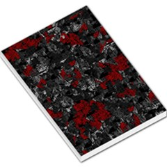 Gray And Red Decorative Art Large Memo Pads by Valentinaart