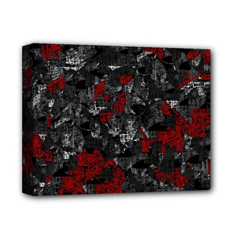 Gray And Red Decorative Art Deluxe Canvas 14  X 11  by Valentinaart