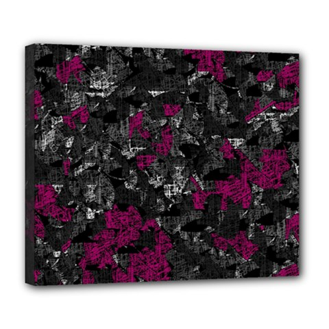 Magenta And Gray Decorative Art Deluxe Canvas 24  X 20