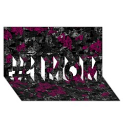 Magenta And Gray Decorative Art #1 Mom 3d Greeting Cards (8x4)