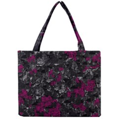 Magenta And Gray Decorative Art Mini Tote Bag by Valentinaart