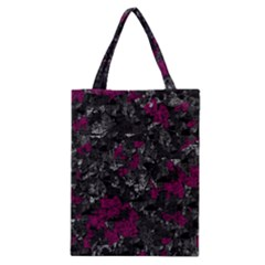 Magenta And Gray Decorative Art Classic Tote Bag by Valentinaart