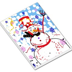 Snowman Large Memo Pads by Valentinaart