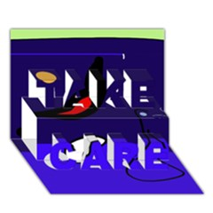 Night Duck Take Care 3d Greeting Card (7x5)