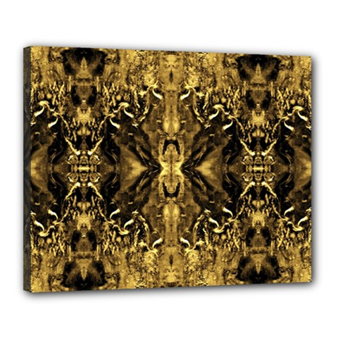 Beautiful Gold Brown Traditional Pattern Canvas 20  X 16  by Costasonlineshop