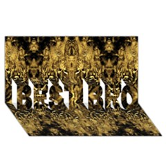 Beautiful Gold Brown Traditional Pattern Best Bro 3d Greeting Card (8x4) by Costasonlineshop
