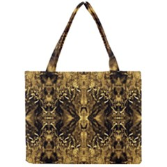 Beautiful Gold Brown Traditional Pattern Mini Tote Bag by Costasonlineshop