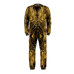 Beautiful Gold Brown Traditional Pattern Onepiece Jumpsuit (kids)