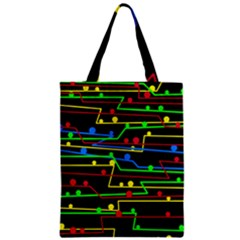 Stay In Line Zipper Classic Tote Bag by Valentinaart