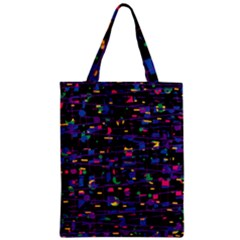 Purple Galaxy Zipper Classic Tote Bag by Valentinaart