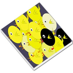 Yellow Flock Small Memo Pads by Valentinaart