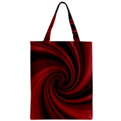 Elegant Red Twist Zipper Classic Tote Bag by Valentinaart