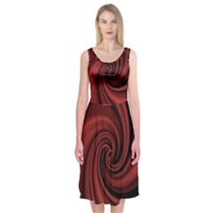 Elegant Red Twist Midi Sleeveless Dress by Valentinaart