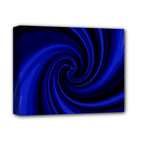 Blue Decorative Twist Deluxe Canvas 14  X 11  by Valentinaart