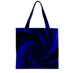 Blue Decorative Twist Zipper Grocery Tote Bag by Valentinaart