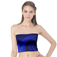 Blue Decorative Twist Tube Top by Valentinaart