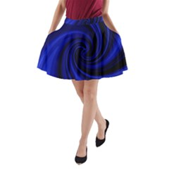 Blue Decorative Twist A Line Pocket Skirt by Valentinaart
