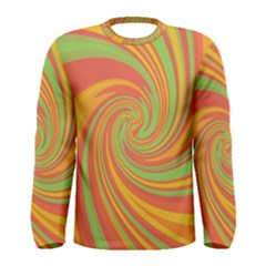 Green And Orange Twist Men s Long Sleeve Tee by Valentinaart