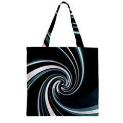 Elegant Twist Zipper Grocery Tote Bag