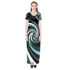 Elegant Twist Short Sleeve Maxi Dress by Valentinaart