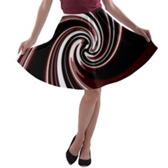 Decorative Twist A Line Skater Skirt by Valentinaart