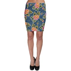 Floral Fantsy Pattern Bodycon Skirt by DanaeStudio