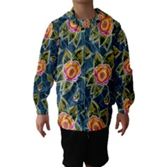 Floral Fantsy Pattern Hooded Wind Breaker (kids) by DanaeStudio