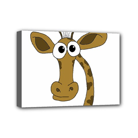 Giraffe  Mini Canvas 7  X 5  by Valentinaart
