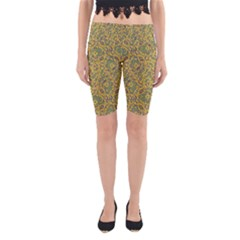 Modern Abstract Ornate Yoga Cropped Leggings