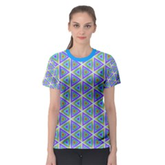 Colorful Retro Geometric Pattern Women s Sport Mesh Tee by DanaeStudio