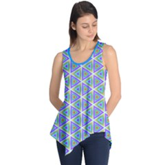 Colorful Retro Geometric Pattern Sleeveless Tunic by DanaeStudio