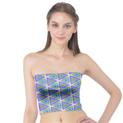 Colorful Retro Geometric Pattern Tube Top by DanaeStudio