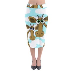 Just The Two Of Us Midi Pencil Skirt by Valentinaart