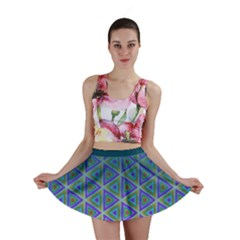 Ombre Retro Geometric Pattern Mini Skirt by DanaeStudio